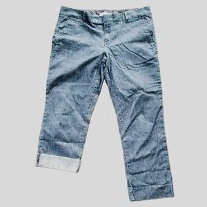 Banana Republic cropped chambray jeans